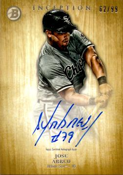 2014 Bowman Inception Gold Jose Abreu Autograph Card