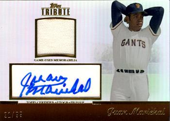 2011 Topps Tribute Juan Marichal Autographed Jersey Card