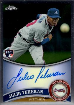 2011 Topps Chrome Julio Teheran Autograph Rookie Card