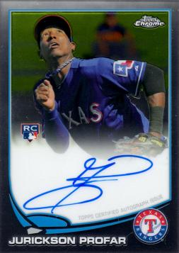 2013 Topps Chrome Jurickson Profar Autograph Rookie Card