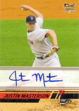 Justin Masterson Authentic Autograph Card