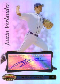 Justin Verlander Authentic Autograph Card