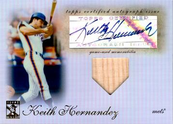 2009 Topps Tribute Keith Hernandez Autograph Bat Card