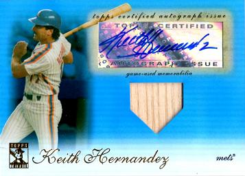Keith Hernandez Authentic Autographed Jersey Card