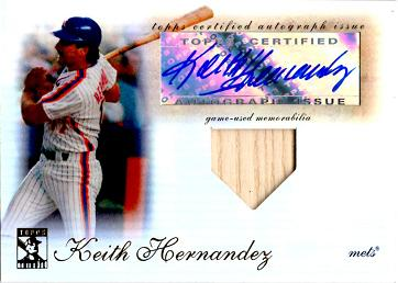 Keith Hernandez Autograph Bat Baseball Card