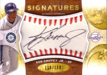 Ken Griffey Jr Mariners Autograph Card