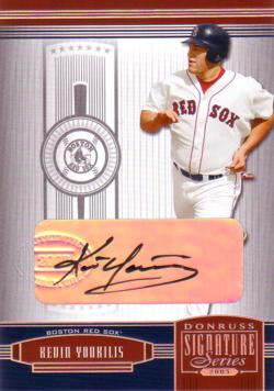 Kevin Youkilis Authentic Autograph Card