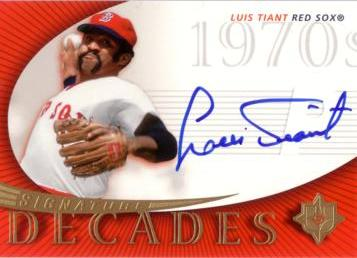 Luis Tiant Authentic Autograph Card