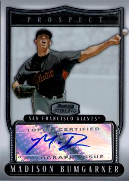 Madison Bumgarner Certified Autograph Card