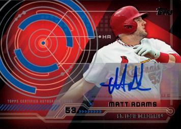 Matt Adams Autograph Baseball Card