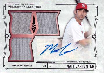 Matt Carpenter Autograph Jersey Card
