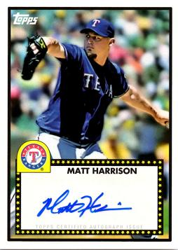 Matt Harrison Autograph Baseball Card