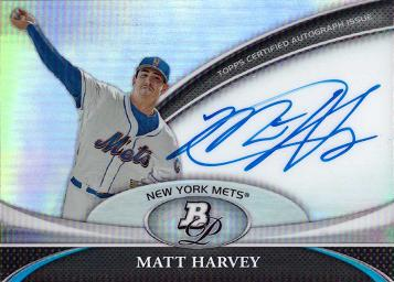 Matt Harvey Autograph Card