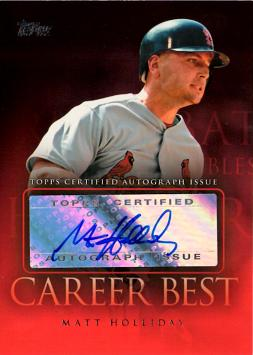 Matt Holliday Autograph Baseball Card