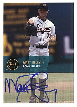 Matt Riley Authentic Autograph Card
