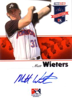 Matt Wieters Authentic Autograph Minor League Card