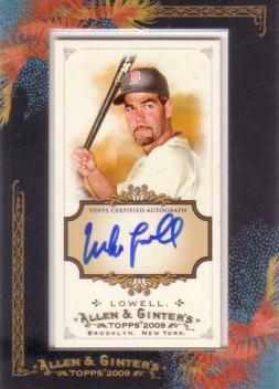 Mike Lowell Authentic Autograph Card