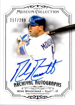 Mike Moustakas Certified Autograph Card