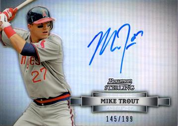 2012 Bowman Sterling Refractor Mike Trout Autograph Card