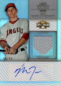 Mike Trout Autograph Jersey Card