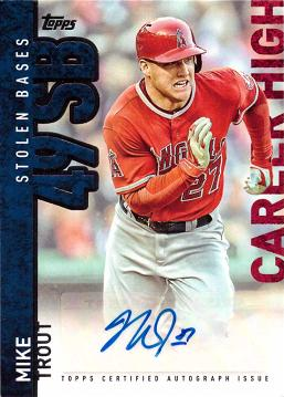2015 Topps Mike Trout Autograph Baseball Card