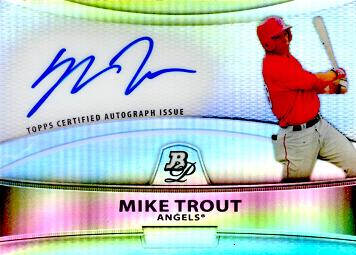 Mike Trout Certified Autograph Baseball Card