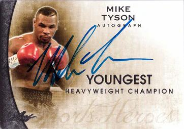 Mike Tyson Certified Autograph Card