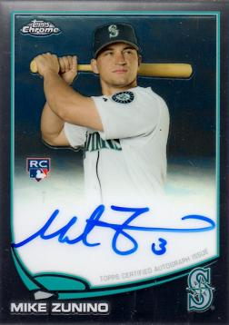 Mike Zunino Topps Chrome Autograph Rookie Card
