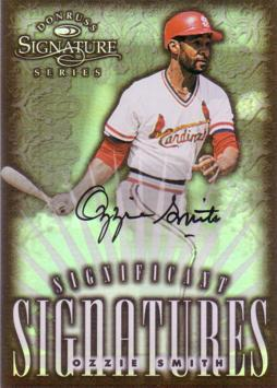Ozzie Smith Authentic Autograph Card