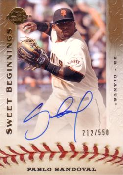 Pablo Sandoval Authentic Autograph Card
