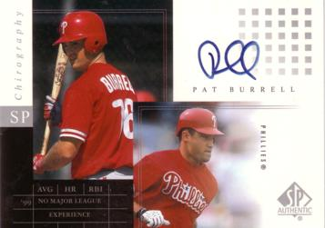 Pat Burrell Authentic Autograph Card
