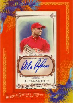 Placido Polanco Certified Autograph Card