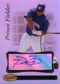 Prince Fielder Authentic Autograph Card
