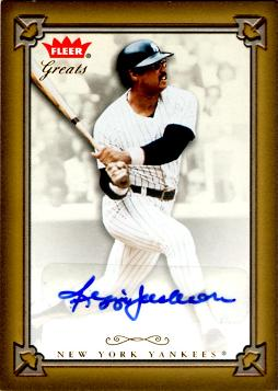 Reggie Jackson Authentic Autograph Card