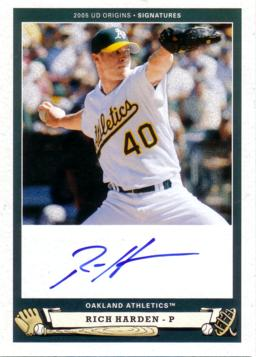Rich Harden Authentic Autograph Card