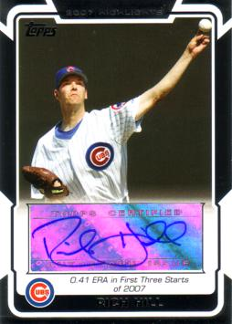 Rich Hill Authentic Autograph Card
