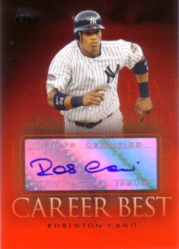 Robinson Cano Authentic Autograph Card