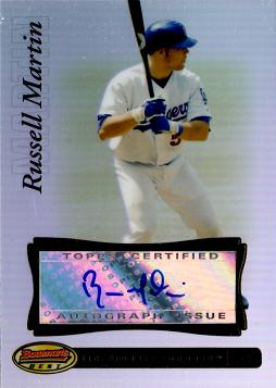 Russell Martin Certified Autograph Card