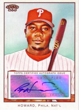 Ryan Howard Authentic Autograph Card