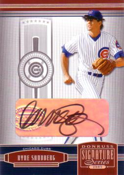Ryne Sandberg Authentic Autograph Card