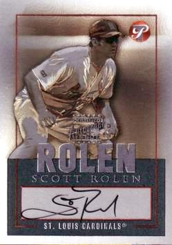Scott Rolen Authentic Autograph Card