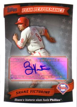 Shane Victorino Authentic Autograph Card