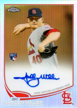2013 Topps Chrome Refractor Shelby Miller Certified Autograph Rookie Card