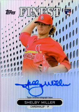 2013 Topps Finest Refractor Shelby Miller Autograph Baseball Rookie Card