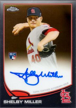 2013 Topps Chrome Shelby Miller Autograph Rookie Card