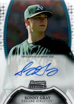 Sonny Gray Autograph Baseball Card