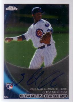 2010 Topps Chrome Starlin Castro Autograph Rookie Card