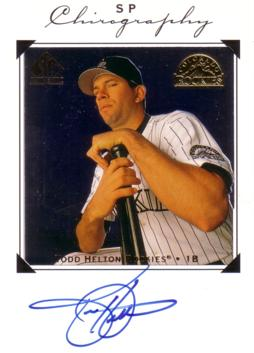 Todd Helton Authentic Autograph Card