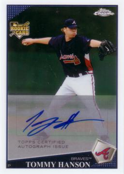 Tommy Hanson Authentic Autograph Rookie Card