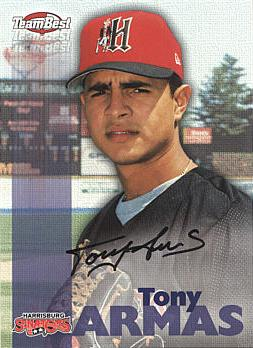 Tony Armas Jr Authentic Autograph Card